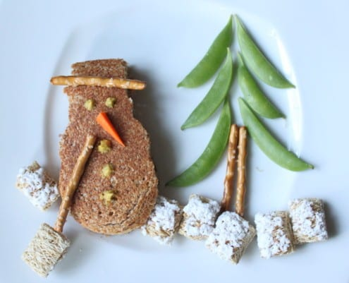 Edible Art: Snowman Sandwich