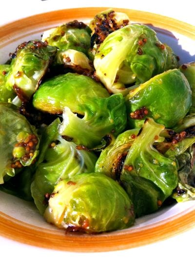 bacon mustard brussel sprouts
