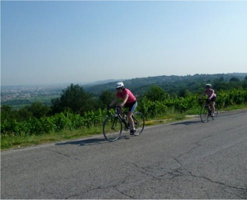 Biking to Soave, Italy