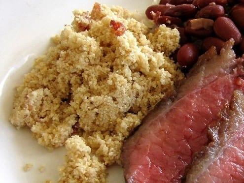 Brazilian Side Dish Farofa With Bacon Honest Cooking