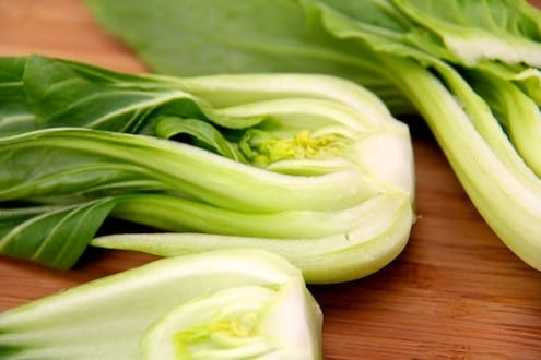 how to prepare bok choy for salad