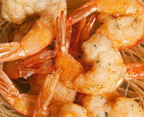 CLOSE-UP PRAWNS