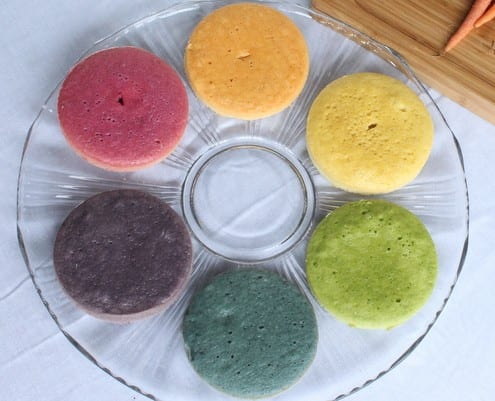 Rainbow Cake with Natural Dyes - Honest Cooking