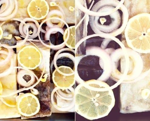 Oven Roasted Bacalhau with Lemon
