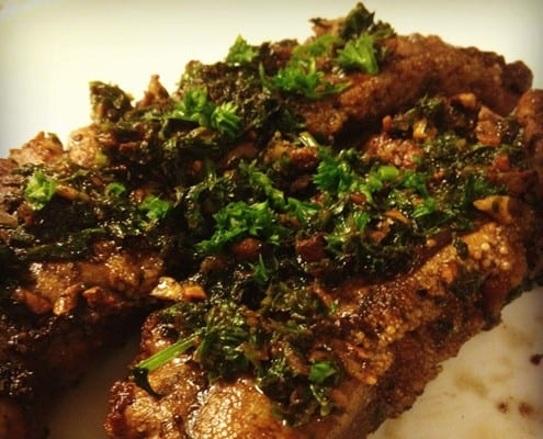 Pan-fried shad roe