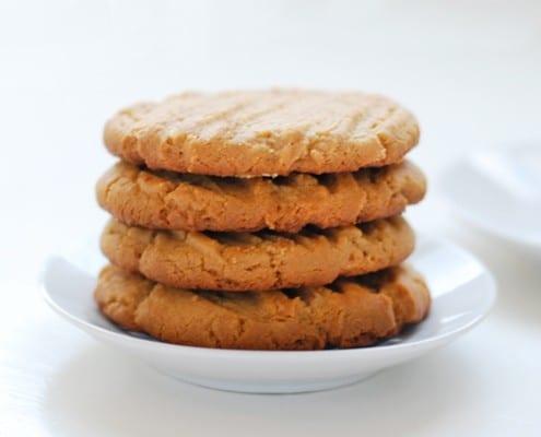 Gluten-Free, Flour-less Peanut Butter Cookies