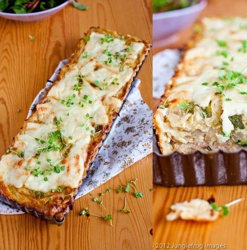 Delicious onion quiche