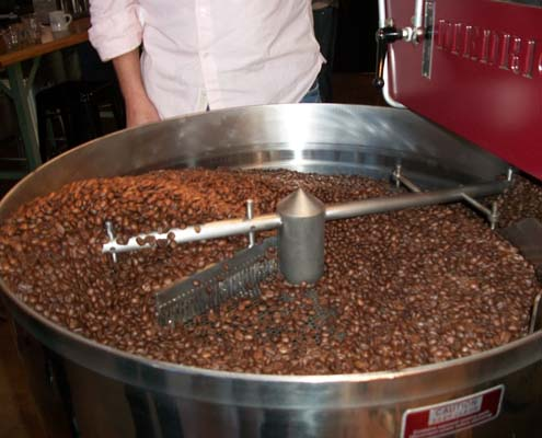 Coffee Cooling Down After Roasting