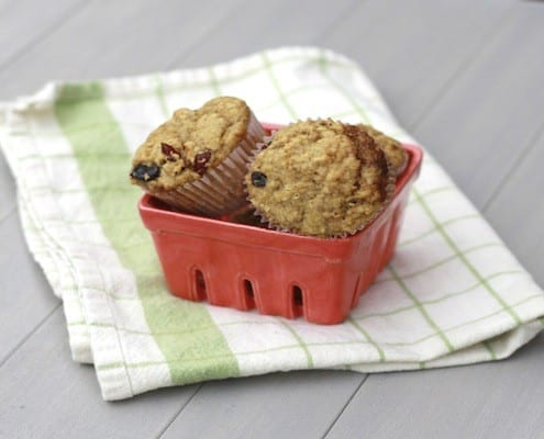 Dried Berry Wheat Germ Muffins