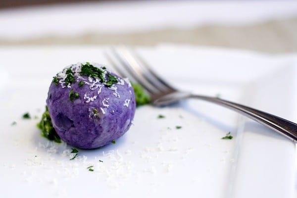 Purple Dumplings