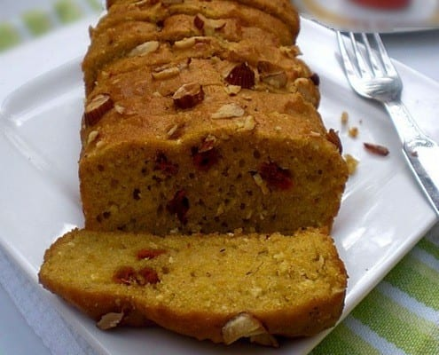 Wholewheat Pumpkin Bread – Healthy Bake with Coconut & Almond Crunch