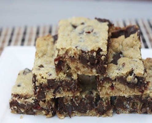 Gooey Chocolate Chip Sandwich Cookie Bars