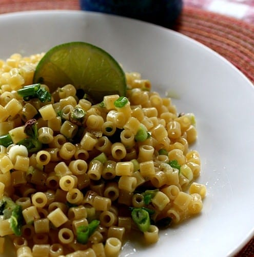 Lime and Green Garlic Pasta_HK