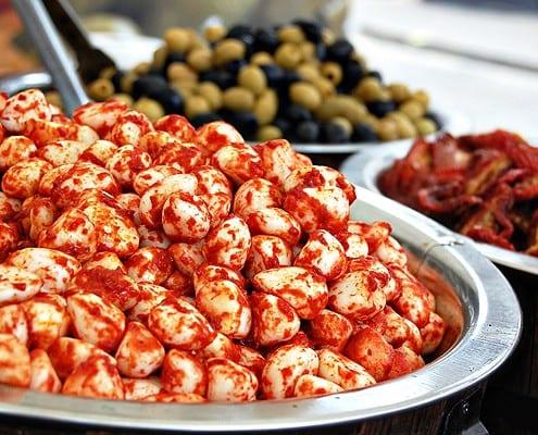 Harissa-marinated garlic