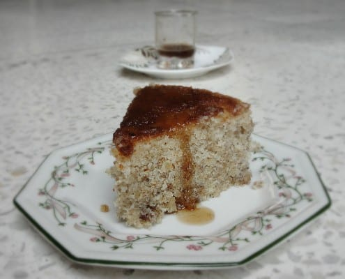 Walnut and Coconut Cake with Tamarind Syrup