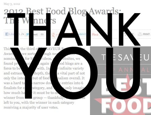 Honest Cooking Best Food Blog Awards