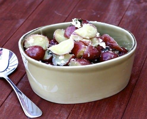 Red Potatoes with Feta, Mint, and Kalamata Olives