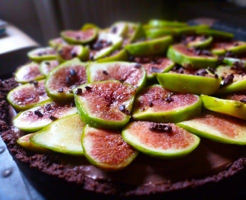 Chocolate and Fig Tart