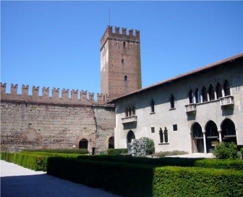 interior of castelvecchio italy cycling tours