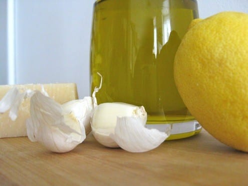 Parmesan Cheese, Garlic, Olive Oil, Lemon