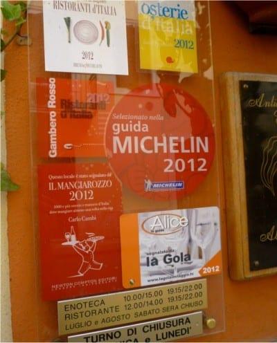 restaurant entrace luxury bike tours italy