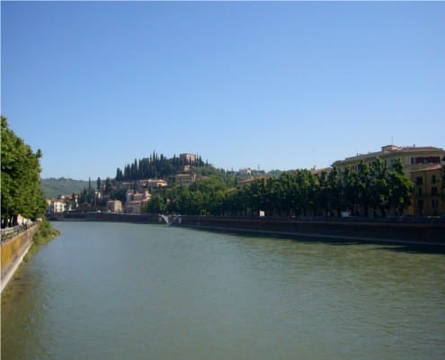View of San Pietro hill from Verona