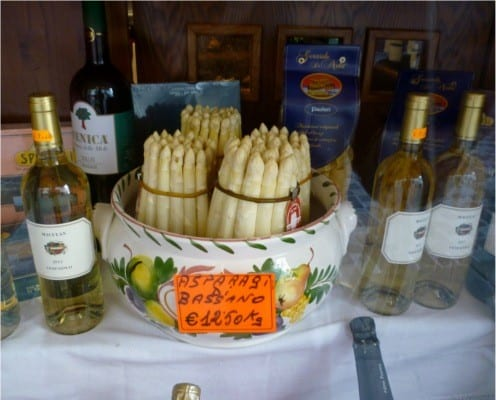 Bassano White Asparagus - italiaoutdoorsfoodandwine private bike tours italy