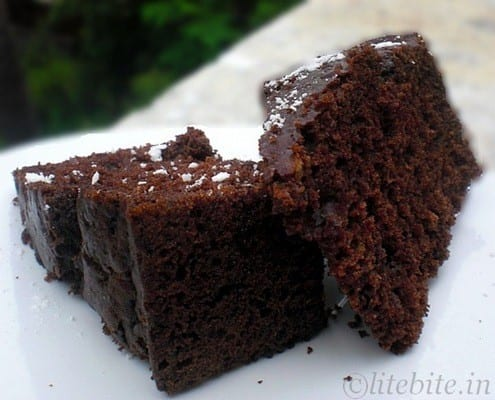 Healthy finger millet and chocolate cake recipe