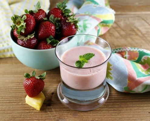 Strawberry Pineapple Buttermilk Smoothie