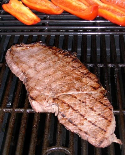 Grilled London Broil with Coffee