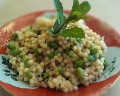 orzo pasta delights with minted peas