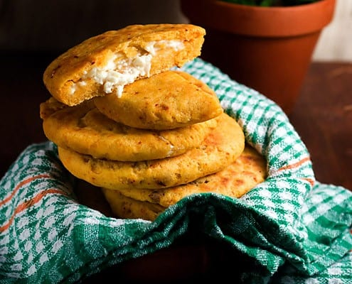 Stack of Cheese Papusas