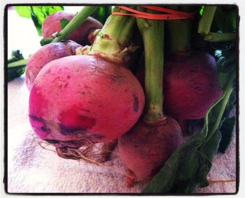 Farmer's market radishes.