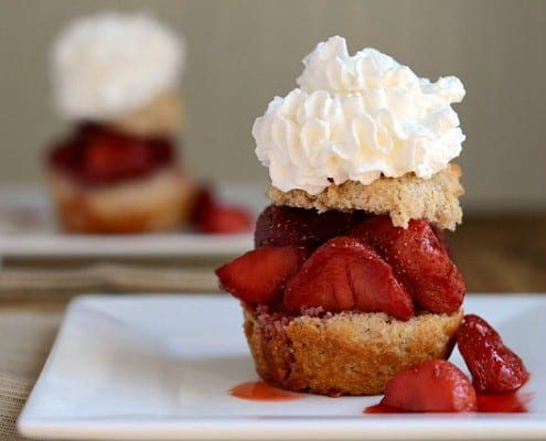 Guilt Free Roasted Strawberry Shortcake
