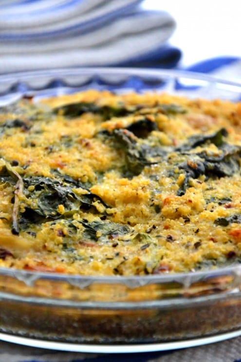 Quinoa Spinach Bake - Honest Cooking