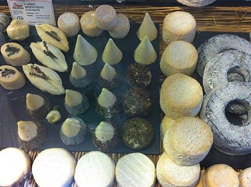 Fresh Goats cheese selection at Beppe e I Suoi Formaggi, Rome