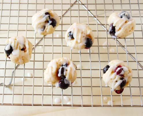 Lemon Glazed Blueberry Bites