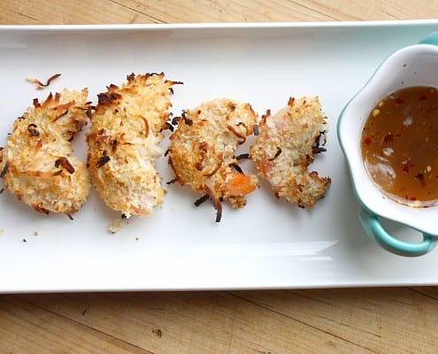Baked Coconut Shrimp with Aloe Dipping Sauce