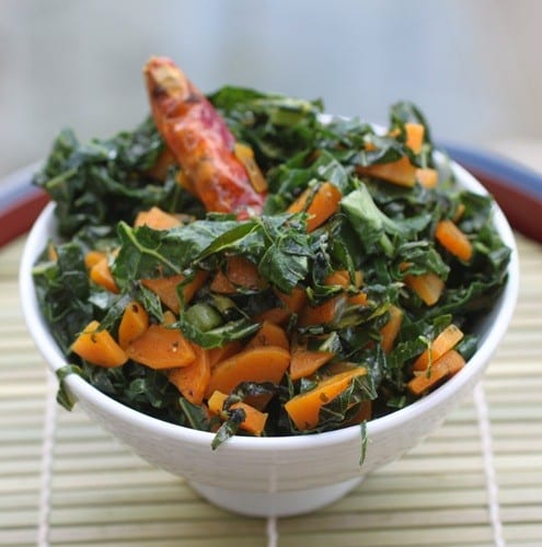 Kale and Carrots with Lime and CinnamonHC