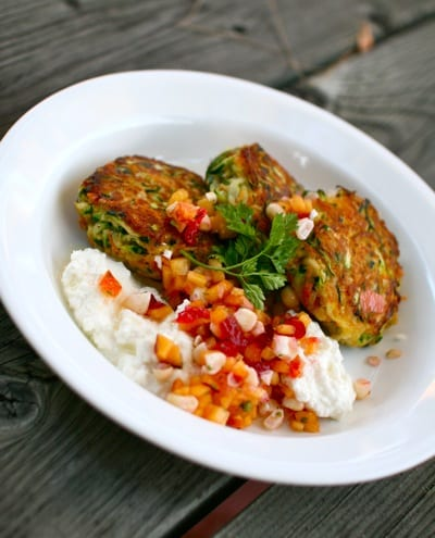 Zucchini Patties with ricotta and summer salsa _2