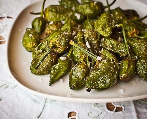Pimientos Padrón - Fried Padron Peppers