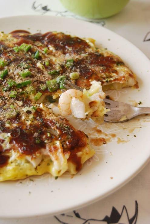 ... her hand at making homemade okonomiyaki – Japanese savoury pancakes