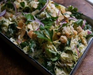 Cabbage and Almond Slaw