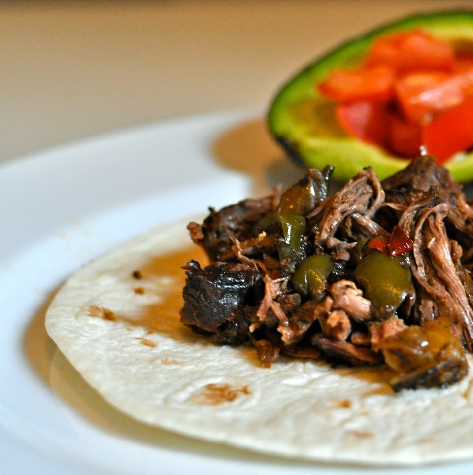 mexican meat in the slow cooker