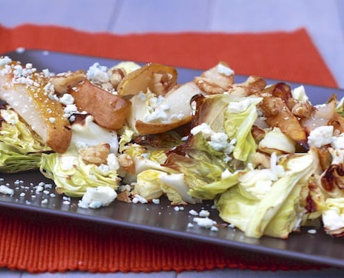 Roasted Pear and Cabbage Salad
