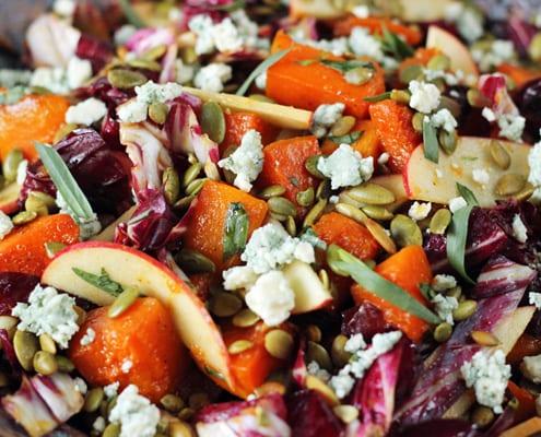 Roasted Butternut Squash Salad - Autumn Recipe