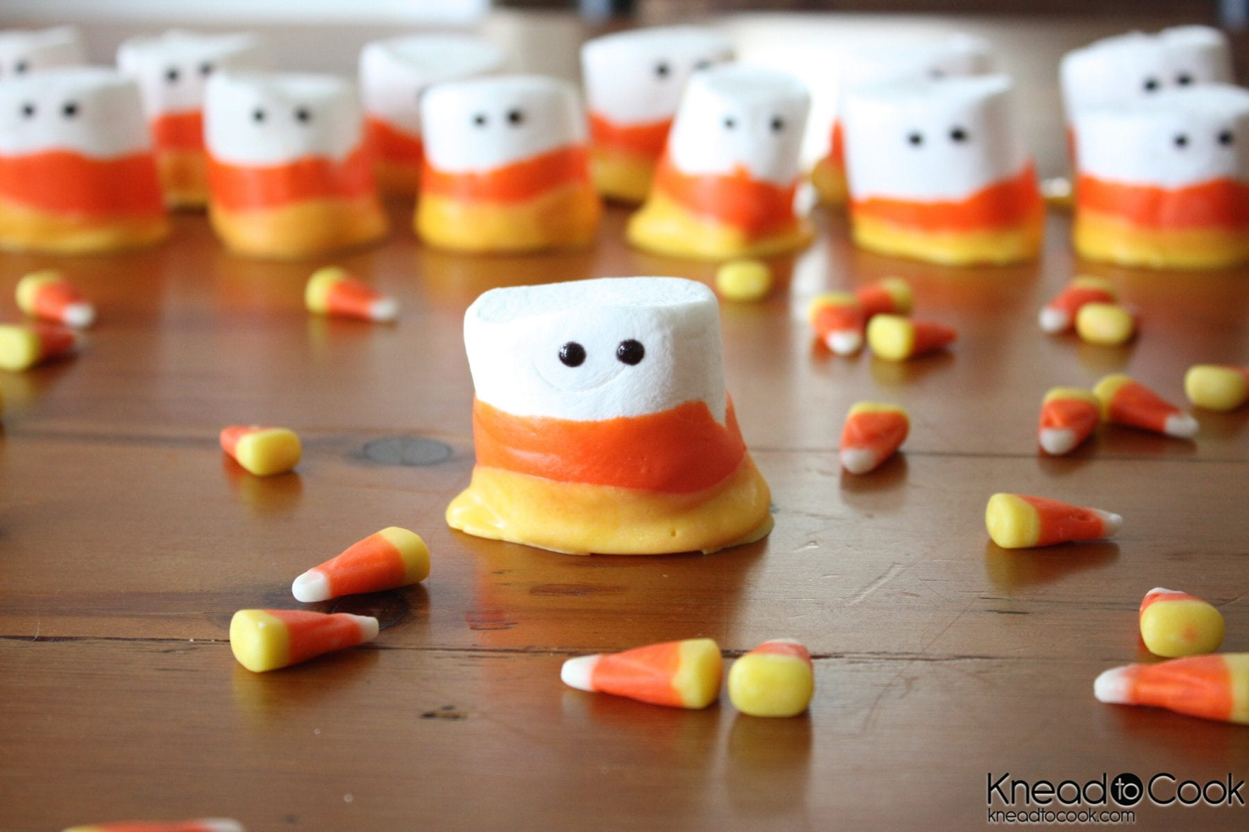 Candy Corn Marshmallows - Halloween Recipe