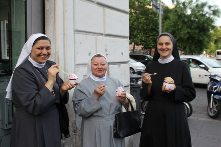 Nuns Eating Gelato