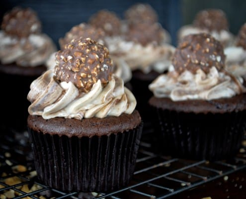 easy nutella cupcakes recipe 4 cupcakes with nutella with the nutella ...