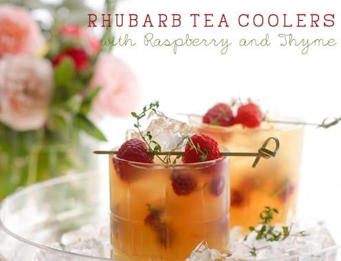 Rhubarb Tea Coolers